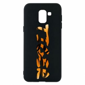 Etui na Samsung J6 Tiger lettering texture