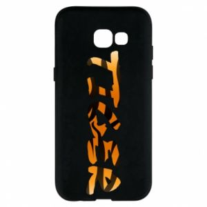 Phone case for Samsung A5 2017 Tiger lettering texture