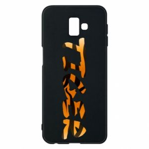 Phone case for Samsung J6 Plus 2018 Tiger lettering texture