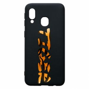 Phone case for Samsung A40 Tiger lettering texture