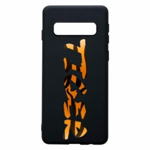 Phone case for Samsung S10 Tiger lettering texture