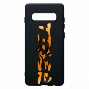 Phone case for Samsung S10+ Tiger lettering texture
