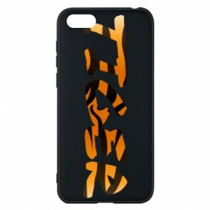 Phone case for Huawei Y5 2018 Tiger lettering texture