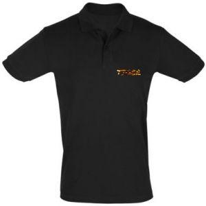 Men's Polo shirt Tiger lettering texture