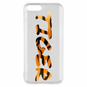 Phone case for Xiaomi Mi6 Tiger lettering texture