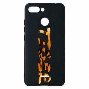 Phone case for Xiaomi Redmi 6 Tiger lettering texture