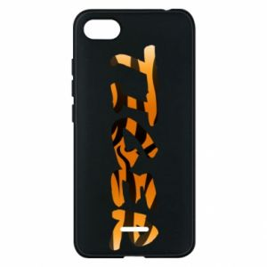 Phone case for Xiaomi Redmi 6A Tiger lettering texture