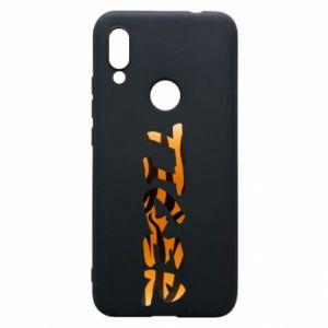 Phone case for Xiaomi Redmi 7 Tiger lettering texture