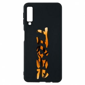 Phone case for Samsung A7 2018 Tiger lettering texture