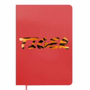 Notepad Tiger lettering texture