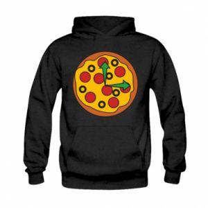 Bluza z kapturem dziecięca Time for pizza