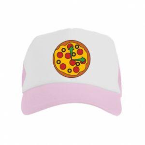 Czapka trucker dziecięca Time for pizza