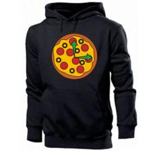 Męska bluza z kapturem Time for pizza