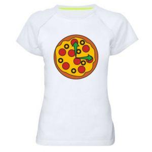 Koszulka sportowa damska Time for pizza