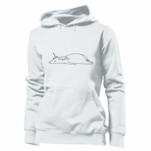 Women's hoodies Tired unicorn - PrintSalon