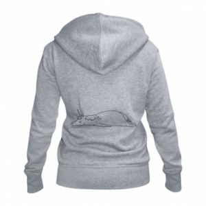 Women's zip up hoodies Tired unicorn - PrintSalon