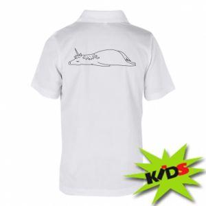Dziecięca koszulka polo Tired unicorn