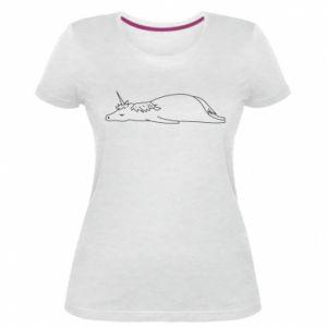 Damska premium koszulka Tired unicorn