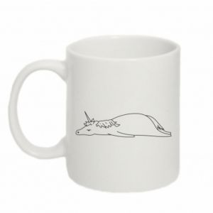 Mug 330ml Tired unicorn - PrintSalon