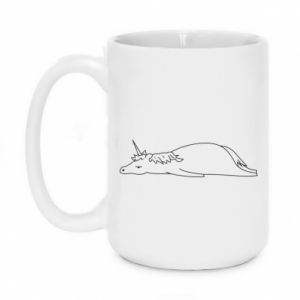 Mug 450ml Tired unicorn - PrintSalon