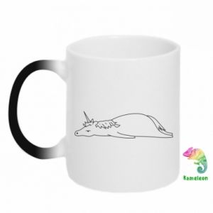 Chameleon mugs Tired unicorn