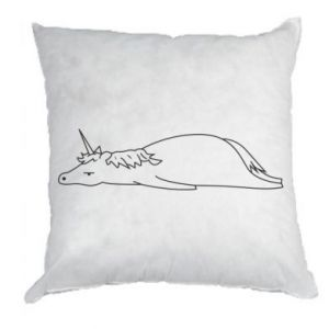 Pillow Tired unicorn - PrintSalon