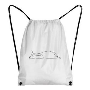 Backpack-bag Tired unicorn - PrintSalon
