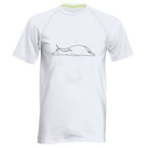 Men's sports t-shirt Tired unicorn