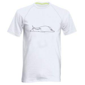 Męska koszulka sportowa Tired unicorn