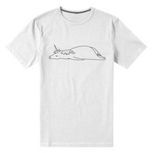 Men's premium t-shirt Tired unicorn - PrintSalon