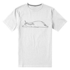Męska premium koszulka Tired unicorn