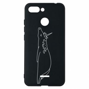Phone case for Xiaomi Redmi 6 Tired unicorn - PrintSalon