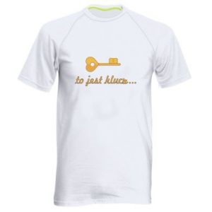 Men's sports t-shirt This is the key ...