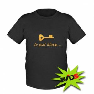 Dziecięcy T-shirt To jest klucz...