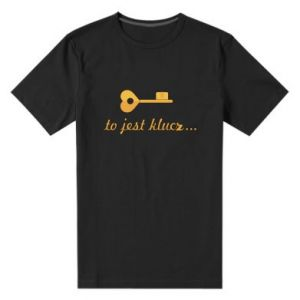 Men's premium t-shirt This is the key ...