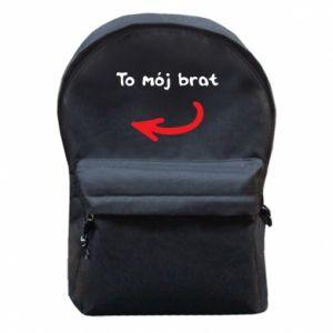 Plecak z przednią kieszenią To mój brat