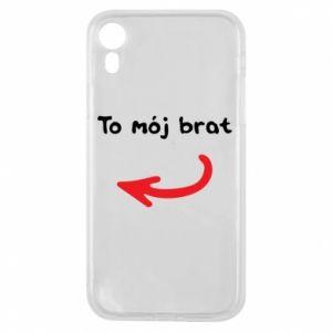 Etui na iPhone XR To mój brat