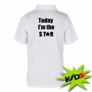 Dziecięca koszulka polo Today I'm the STАR