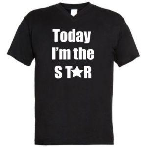 Męska koszulka V-neck Today I'm the STАR