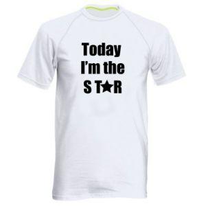 Męska koszulka sportowa Today I'm the STАR