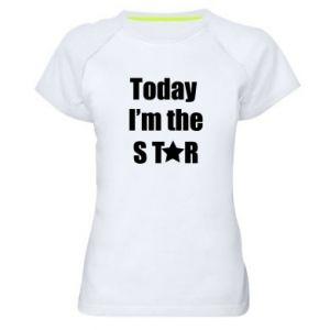 Damska koszulka sportowa Today I'm the STАR