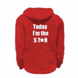 Kid's zipped hoodie Today I'm the STАR