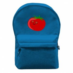 Backpack with front pocket Tomato