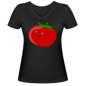 Damska koszulka V-neck Tomato