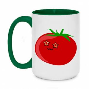 Two-toned mug 450ml Tomato