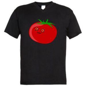 Męska koszulka V-neck Tomato