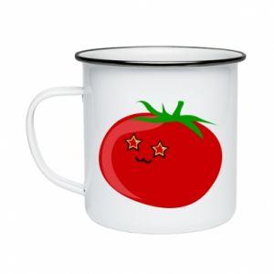 Enameled mug Tomato