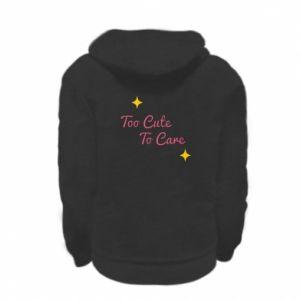 Bluza na zamek dziecięca Too cute to care