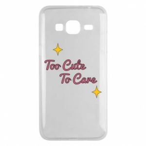 Etui na Samsung J3 2016 Too cute to care