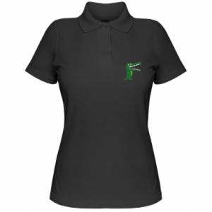 Women's Polo shirt Toothy crocodile - PrintSalon